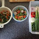 Salad and stirfry