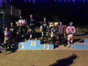Retro BMX racing podium