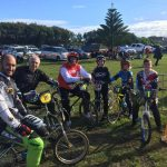 Junior and Senior retro BMX racers